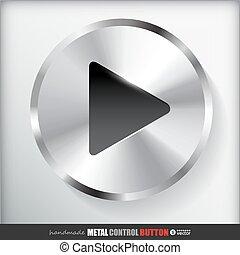 Circle Metal Play Button.