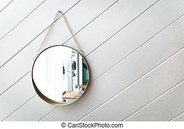 circle mirror on a white background