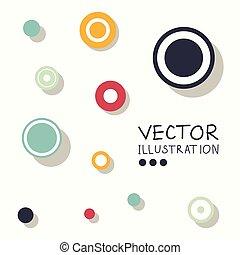 Circle modern business design template.