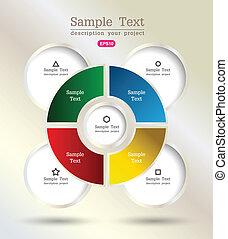 circle modern plan graph - vector business concepts /...