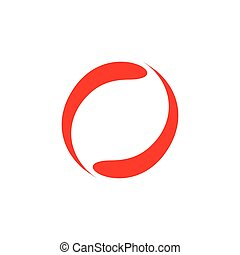 circle motion abstract design logo vector