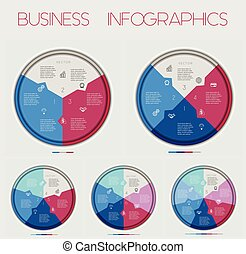 Circle Numbereds of Area chart  3 4 5 6 7 Options, For Infographic, Diagramme, Technological Process, Business Concept, Or Other Successful Step-By-Step Representation