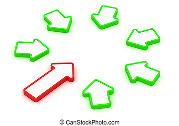 Circle of arrows