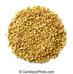 bee pollen - Circle of bee pollen isolated on white...