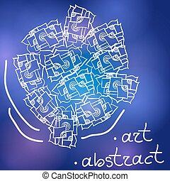 circle of Doodle mosaic vector illustration