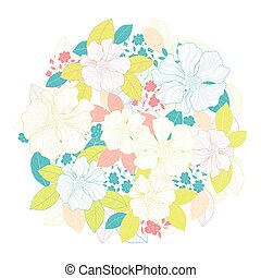 Circle of flowers