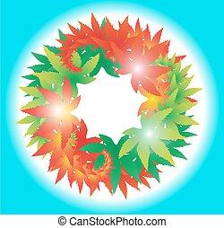 circle of leaf Autumn
