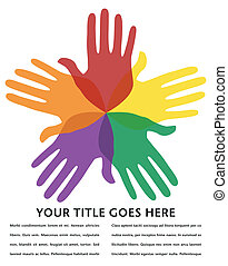 Circle of loving hands design.