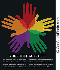 Circle of loving hands design. - Circle of loving hands...