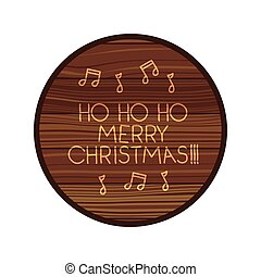 circle on wooden with christmas message