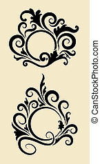 Circle Ornament Decorations - Circle drawing with floral ...