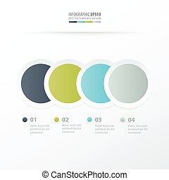 Circle Overlap infographic  Green, blue, gray color