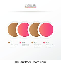 Circle Overlap infographic pink and sugar color