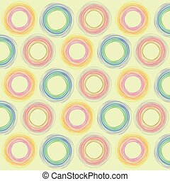 Circle Pattern Artistic Abstract Background