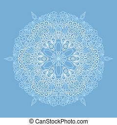 Circle pattern with lacy snowflake