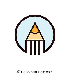 Circle Pencil Creative Education Concept