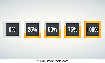 circle percentage, Performance analysis in percent, square ...