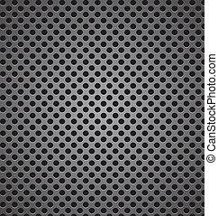 circle perforated carbon speaker grill texture vector illustrati
