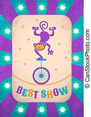 Circle poster purple with monkey.eps