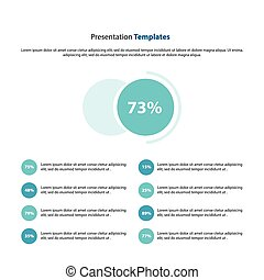 circle Presentation and infographic template