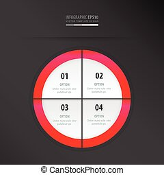 circle presentation template neon pink
