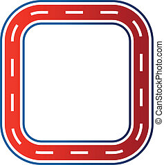 Circle race circuit image. Car road track icon