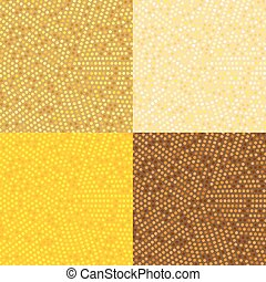 Circle Radius Abstract Golden Background Vector Illustration