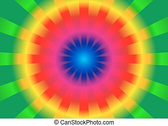 Circle rainbow gradient and burst from center
