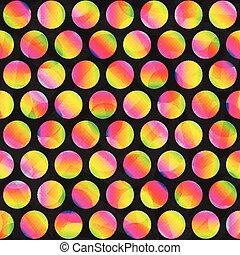 circle rainbow seamless pattern