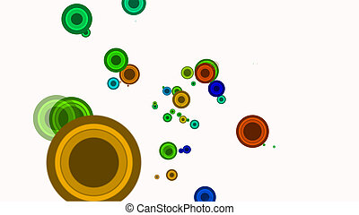 circle retro color abstract background