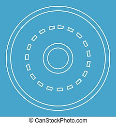 Circle road icon, outline style