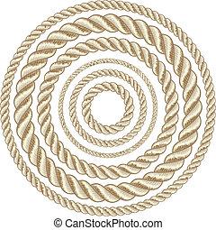 Circle ropes - Circle rope illustration vector.