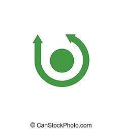 circle rotation arrows logo vector
