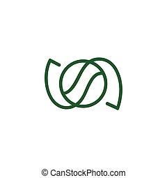 circle rotation ball sport logo vector