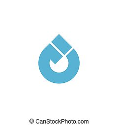 circle rotation drop water refresh symbol logo vector