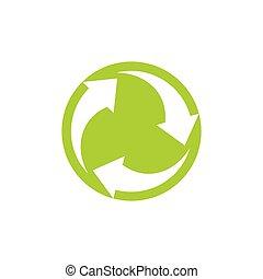 circle rotation negative space global logo vector