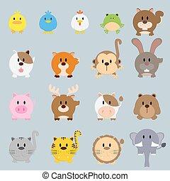 circle round cartoon color animal illustration