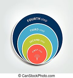 Circle, round diagram, scheme, chart, slide, template, graph, presentation. Business concept with 4 steps, options, processes.