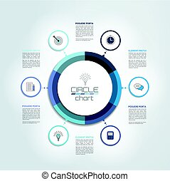 Circle, round  infographic chart, diagram, scheme.