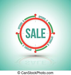 Circle sale banner clock style