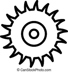 Circle saw icon, outline style - Circle saw icon. Outline ...