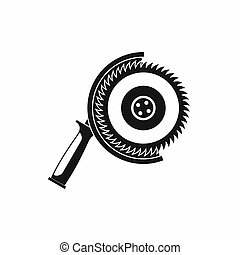 Circle saw icon, simple style