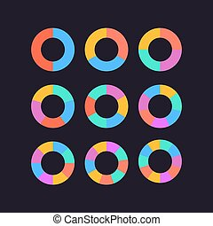 circle segments set vector