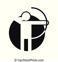 Circle Shape Archery Sport Figure Symbol Vector Illustration Graphic
