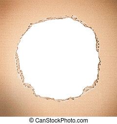 Circle shape breakthrough cardboard - White circle shape...