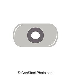 circle shape capsule symbol logo vector