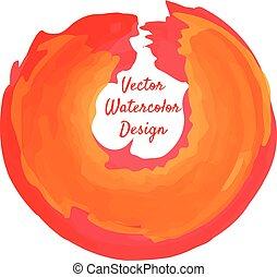 Circle shape watercolor