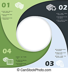 Circle shaped infographic design with icons