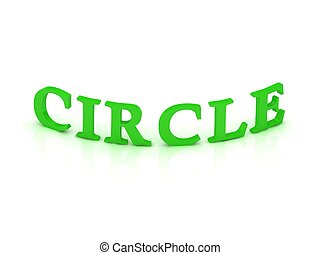 CIRCLE sign with green word