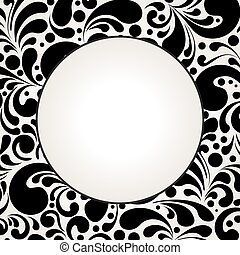 Circle silhouette decorative frame